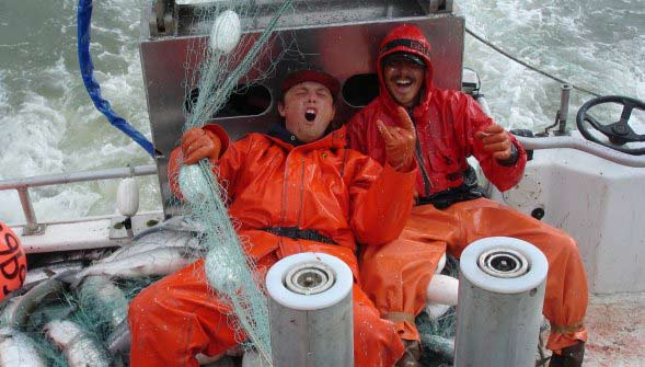 Bristol Bay Alaska Gillnetting Crew Poses for Photo