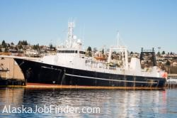 North Pacific Pollock Factory Trawler Docked in Seattle